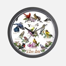 12 X T birds copy Wall Clock
