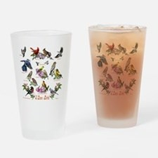 12 X T birds copy Drinking Glass