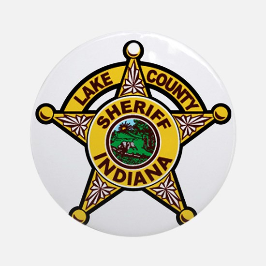 Lakecounty Round Ornament