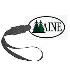 MainePineTrees2OvalA Luggage Tag