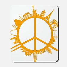world peace orange Mousepad
