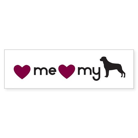 Love My Rottie Bumper Sticker