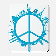 world peace cyan Mousepad