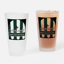 CDM-Logo-BW (7) Drinking Glass