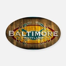 Baltimore Crab Oval Car Magnet
