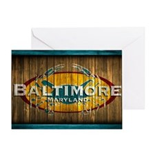 Baltimore Crab Greeting Card