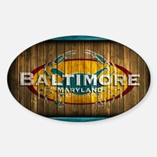 Baltimore Crab Sticker (Oval)