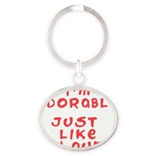 adorable-like-aunt Oval Keychain
