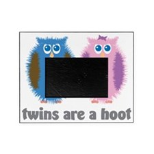 Twin Owls Blue Pink Picture Frame