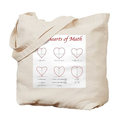 Hearts Curves Tote Bag