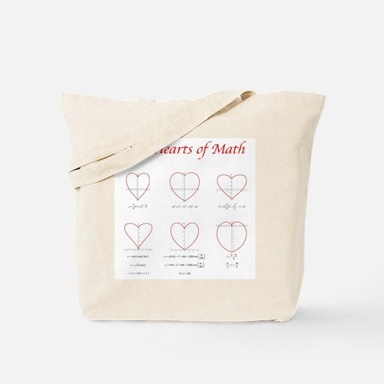 Hearts Curves Tote Bag