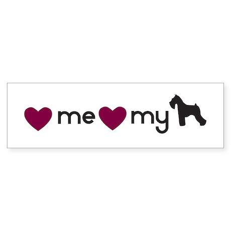 Love My Schnauzer Bumper Sticker