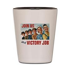 Victory Vintage Poster Shot Glass