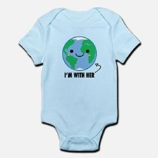 I'm With Her - Planet Earth Day Body Suit
