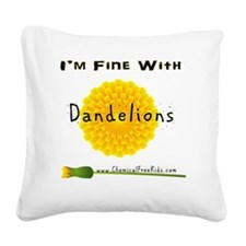 shirtsizePNG2 Square Canvas Pillow