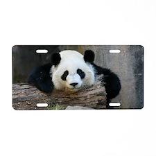 panda Aluminum License Plate
