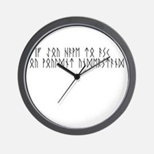 Ask Runes Wall Clock