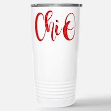 Chi Omega Chi O Stainless Steel Travel Mug
