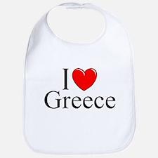 """I Love Greece"" Bib"