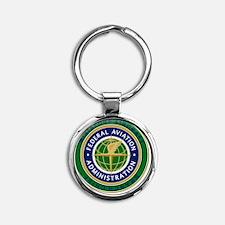 FAA Round Keychain