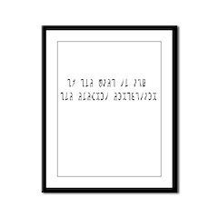 Ask Enochian Framed Panel Print