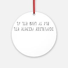 Ask Enochian Ornament (Round)