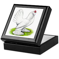 White d'Uccle Hen Keepsake Box
