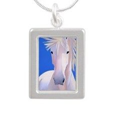 LillyTShirt Silver Portrait Necklace