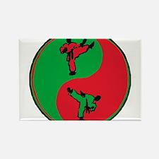 Karate Emblem Round Rectangle Magnet