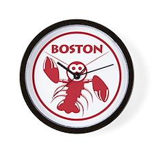 Boston Kids Lobster Wall Clock
