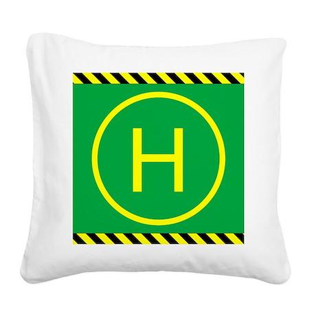 Heli Pad Square Canvas Pillow