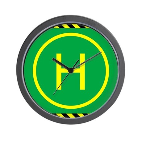 Heli Pad Wall Clock
