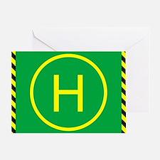 Heli Pad Greeting Card