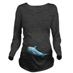 Dolphin Long Sleeve Maternity T-Shirt
