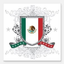 "mexicoshield Square Car Magnet 3"" x 3"""