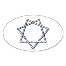 Septagram or Fairy Star Oval Decal