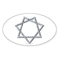 Septagram or Fairy Star Oval Decal