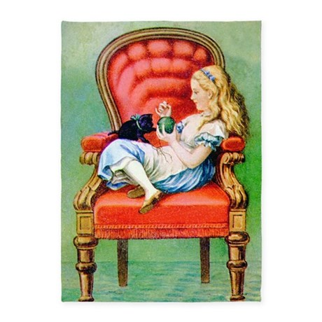 Alice in Wonderland DINAH 10X14 5'x7'Area Rug