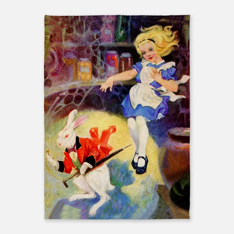 Alice DOWN HE RABBIT HOLE 5'x7'Area Rug
