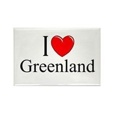 """I Love Greenland"" Rectangle Magnet"