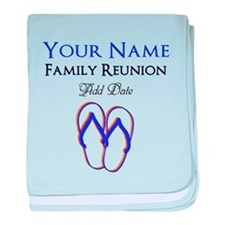 FUN FAMILY REUNION baby blanket