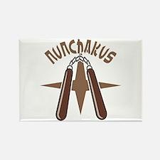 Nunchakus Rectangle Magnet