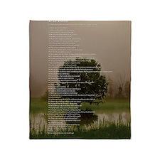 Brett16x20Vert_Tree2 Throw Blanket