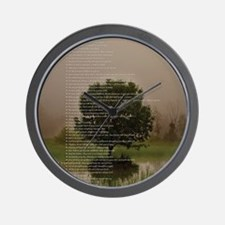 Brett16x20Vert_Tree2 Wall Clock