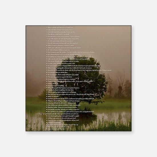 """Brett16x20Vert_Tree2 Square Sticker 3"""" x 3"""""""