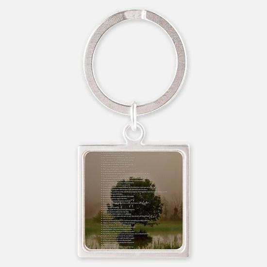 Brett16x20Vert_Tree2 Square Keychain