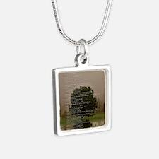 Brett16x20Vert_Tree2 Silver Square Necklace