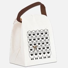 Cardie in the Sheep Canvas Lunch Bag