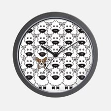 Cardie in the Sheep Wall Clock
