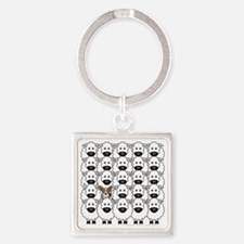 Cardie in the Sheep Square Keychain